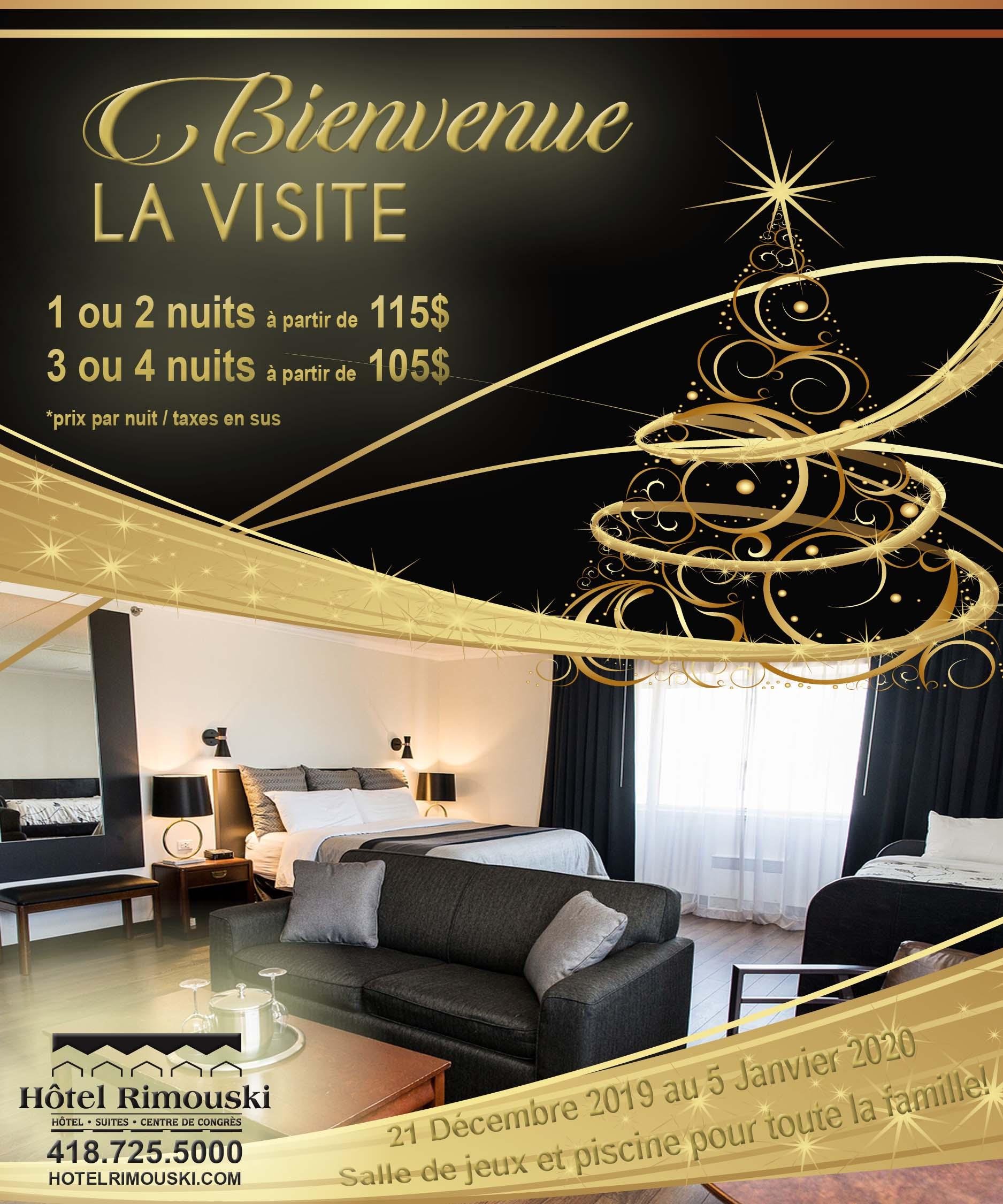 Bienvenue la visite | Hôtel Rimouski