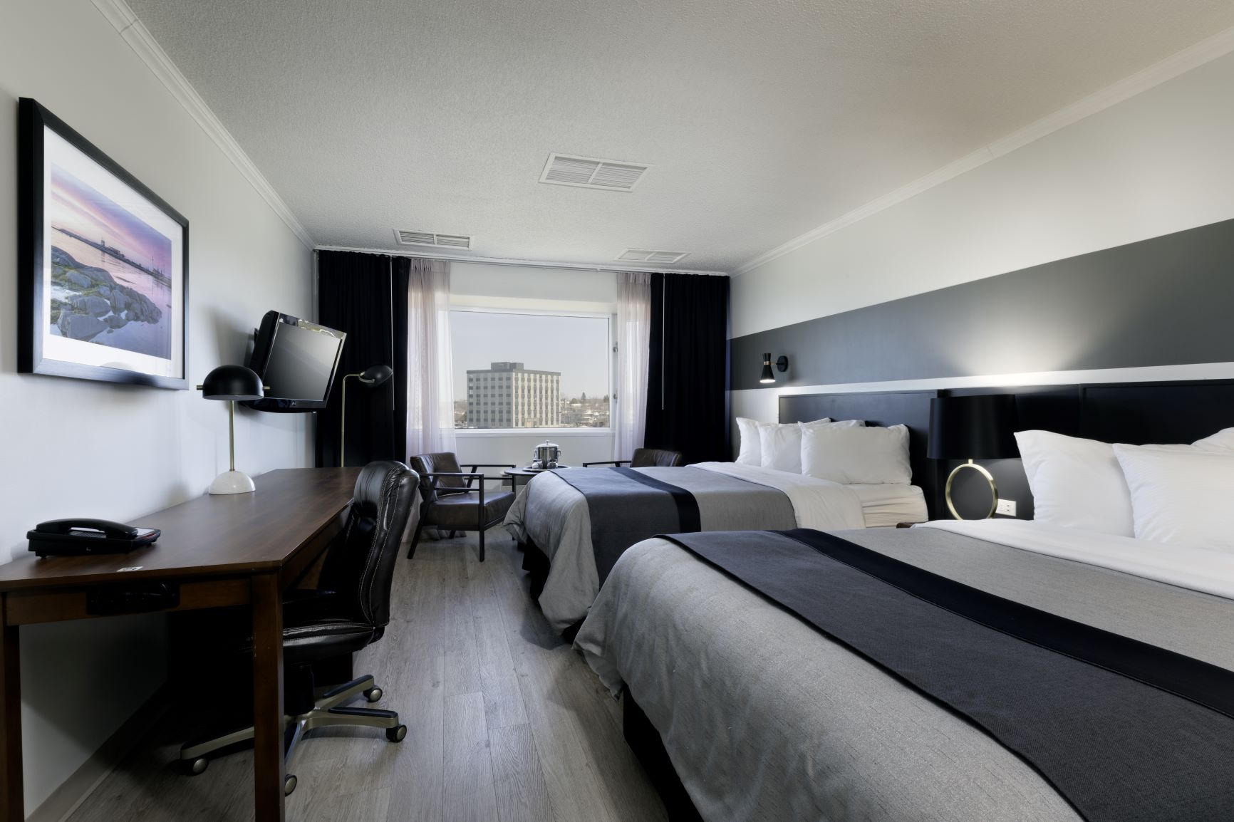 Standard room with Queen beds | Hôtel Rimouski